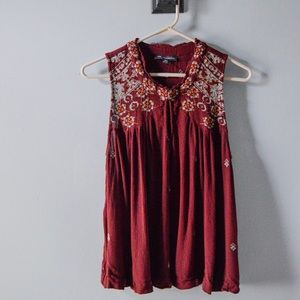 American Eagle Outfitters Boho Burgundy Tank